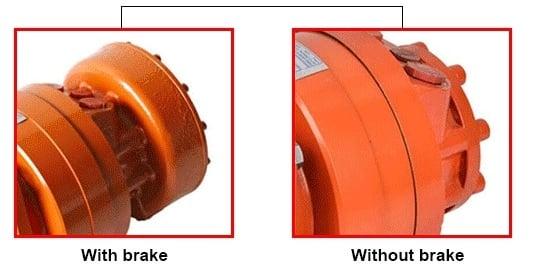 MCR5 motor brake selection