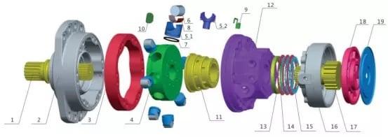 MS05 motor parts list