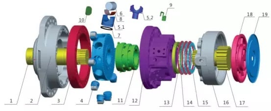 MS08 motor parts list