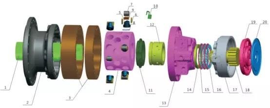 MS125 motor parts list