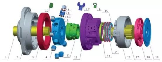 MS18 motor parts list