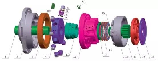MS25 motor parts list