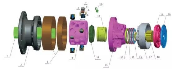 MS250motor parts list