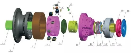 MS83 motor parts list