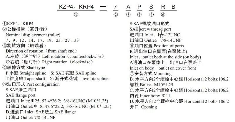 KZP4 model number